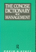 The Concise Dictionary of Management